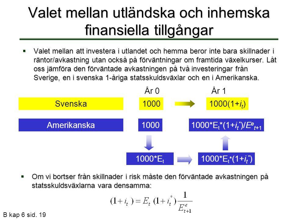 Valet mellan utländska och inhemska finansiella tillgångar