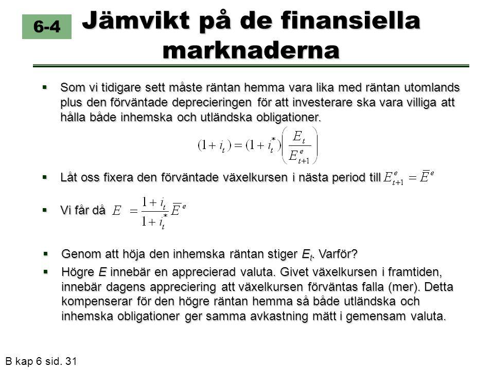 Jämvikt på de finansiella marknaderna
