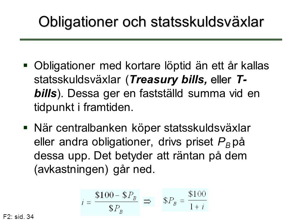 Obligationer och statsskuldsväxlar