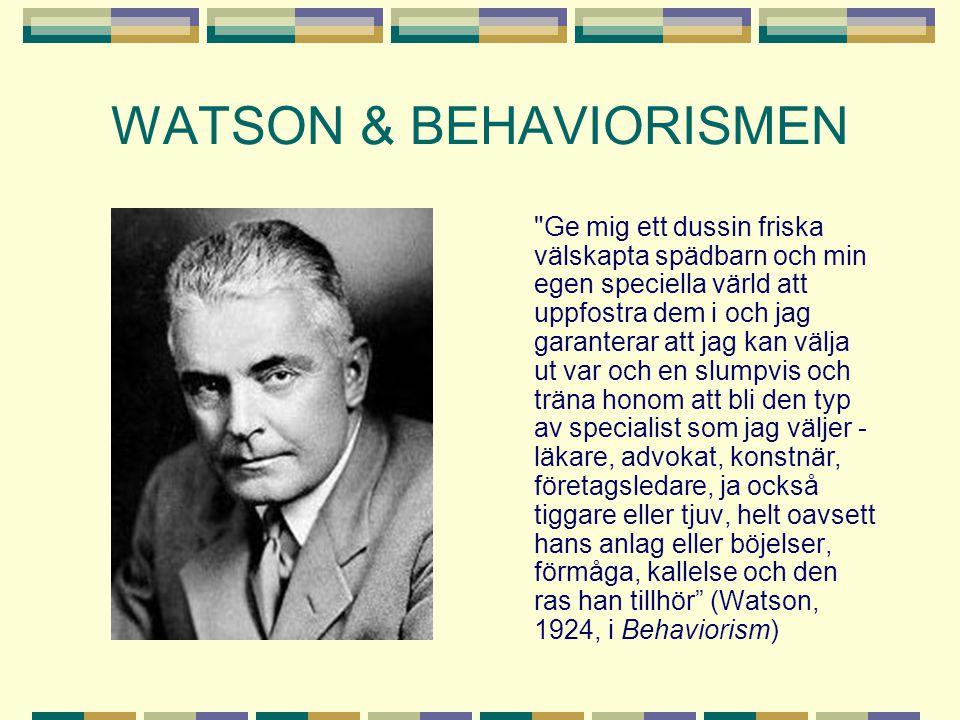 WATSON & BEHAVIORISMEN
