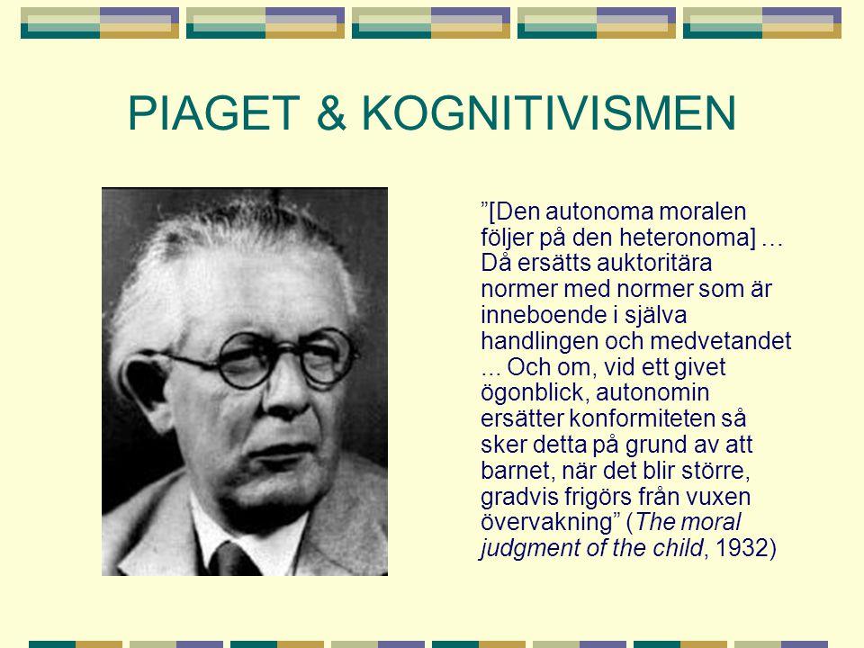 PIAGET & KOGNITIVISMEN