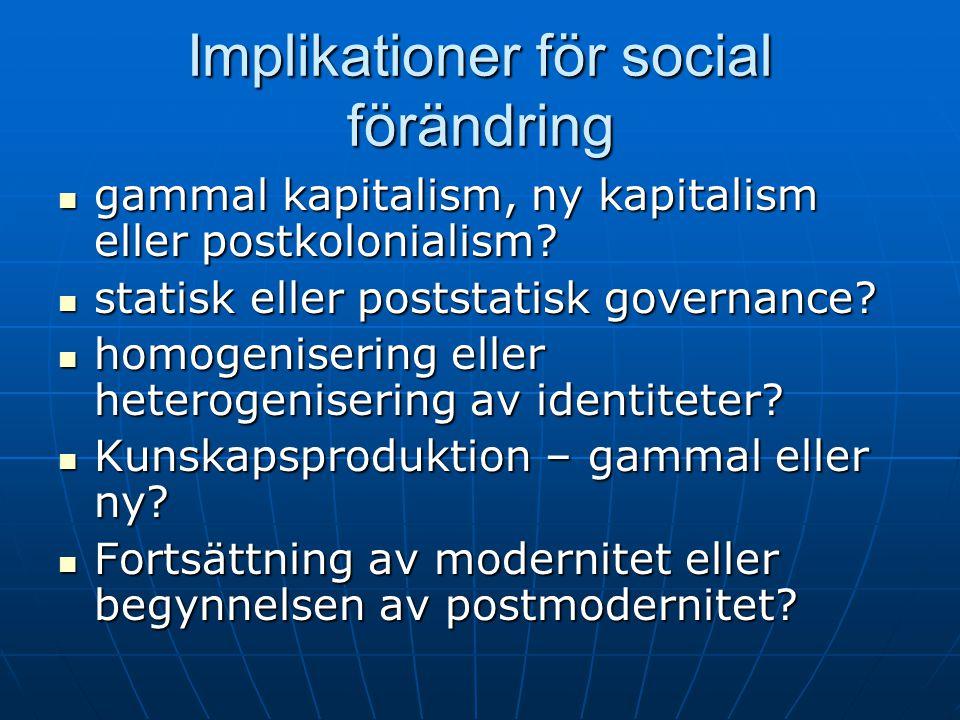 Implikationer för social förändring