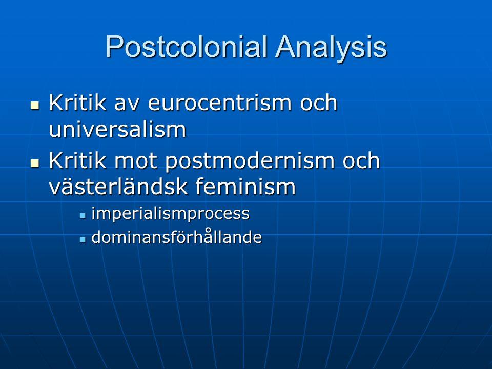 Postcolonial Analysis