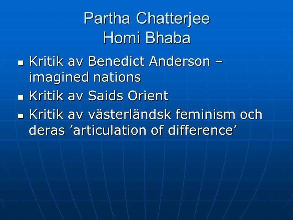 Partha Chatterjee Homi Bhaba