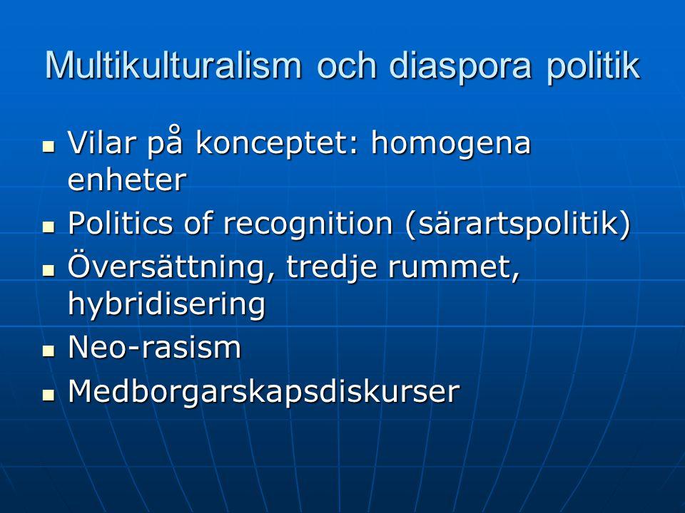 Multikulturalism och diaspora politik