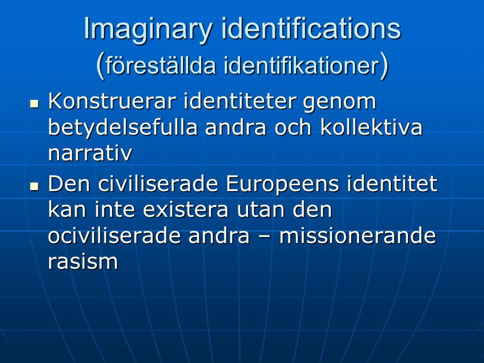 Imaginary identifications (föreställda identifikationer)