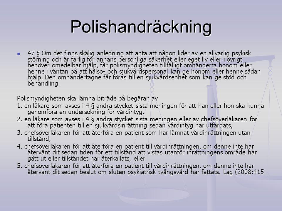Polishandräckning