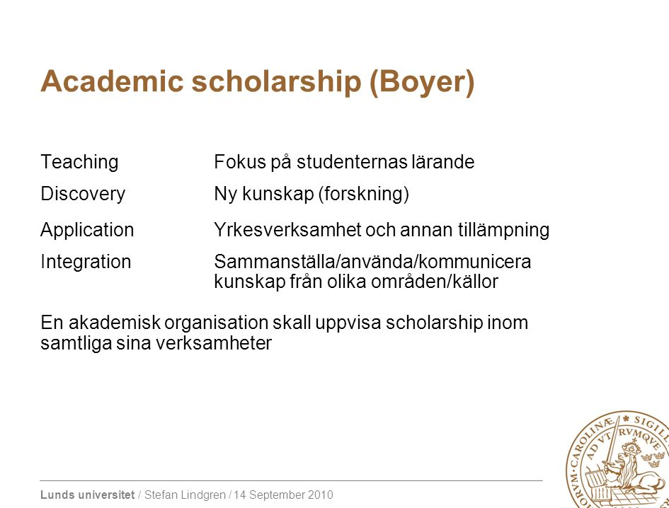 Academic scholarship (Boyer)