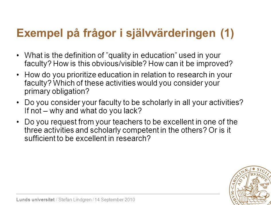 Exempel på frågor i självvärderingen (1)