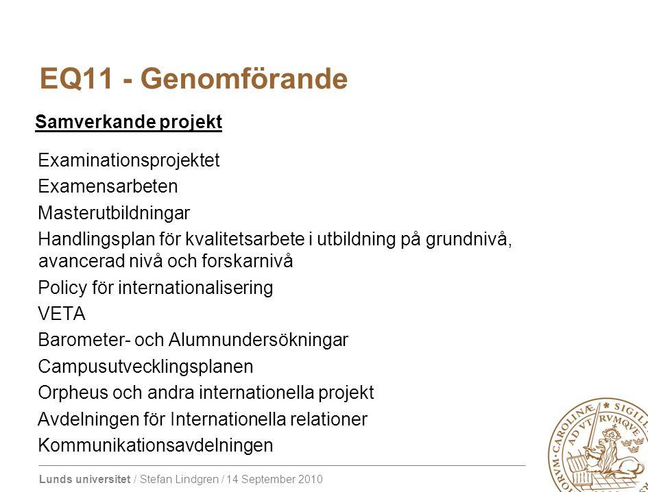 EQ11 - Genomförande Samverkande projekt