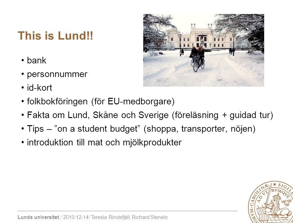 This is Lund!! bank personnummer id-kort