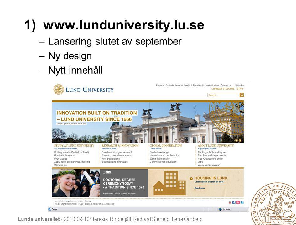 1) www.lunduniversity.lu.se