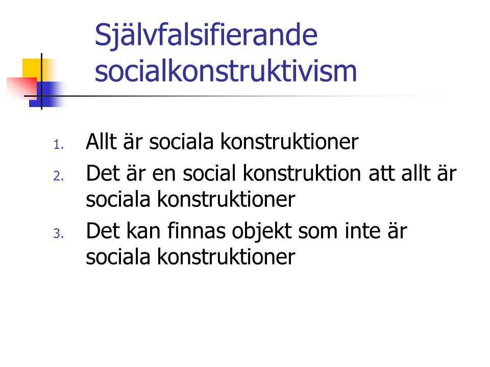 Självfalsifierande socialkonstruktivism