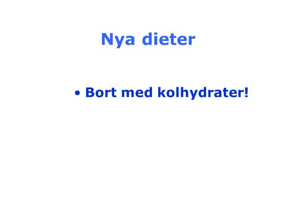Nya dieter Bort med kolhydrater!