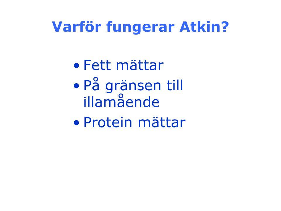 Varför fungerar Atkin Fett mättar På gränsen till illamående Protein mättar
