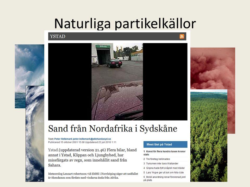 Naturliga partikelkällor