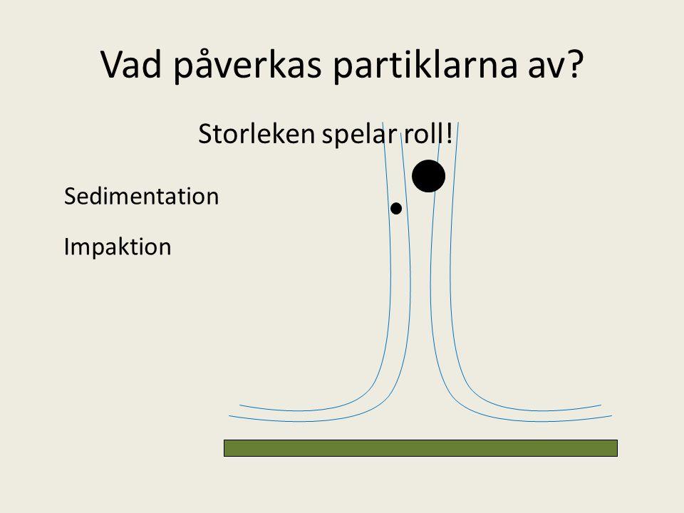 Vad påverkas partiklarna av