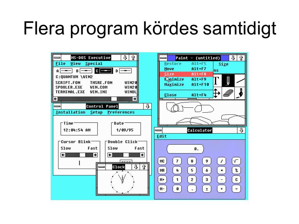 Flera program kördes samtidigt