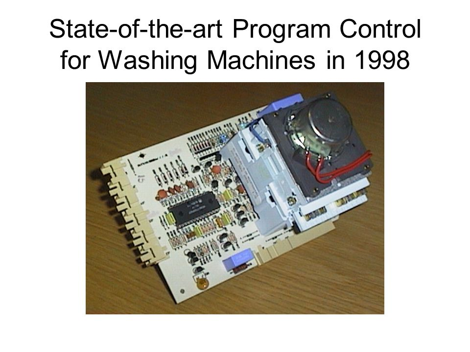 State-of-the-art Program Control for Washing Machines in 1998