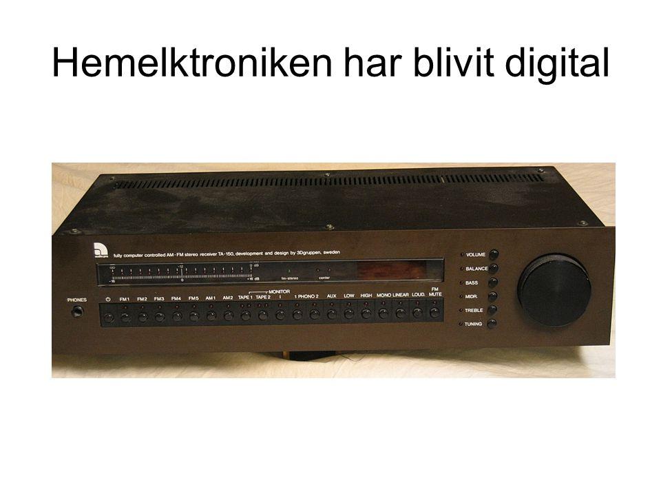 Hemelktroniken har blivit digital