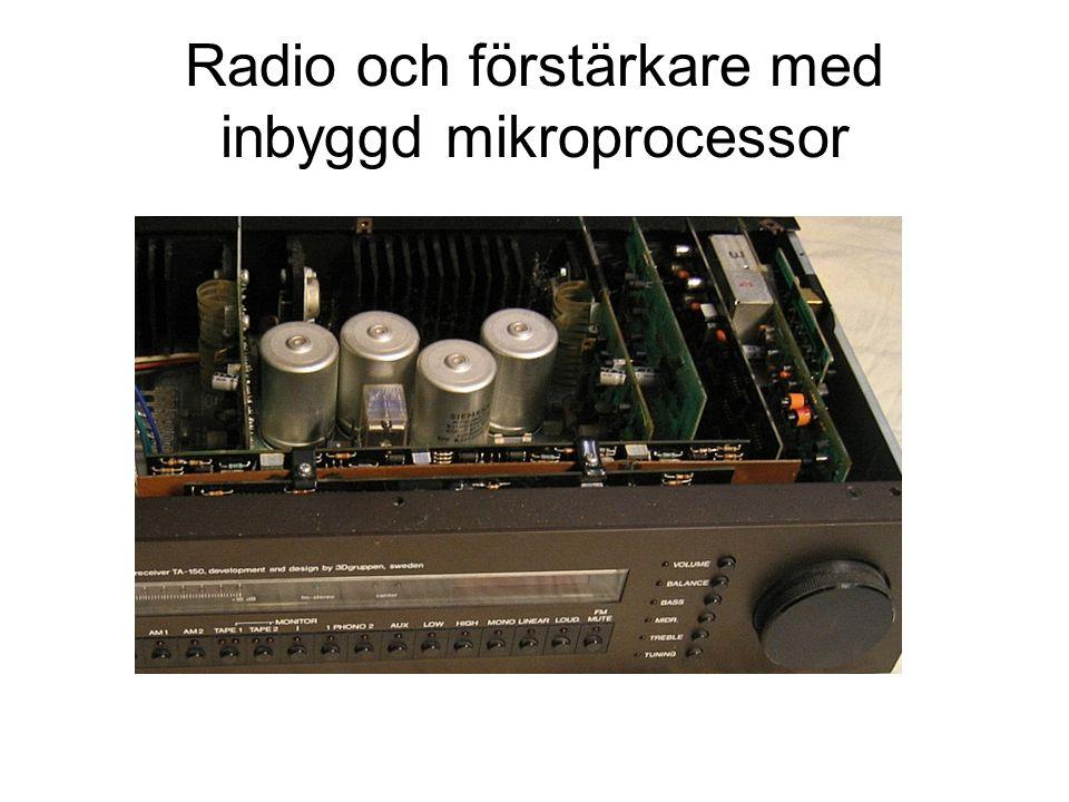 Radio och förstärkare med inbyggd mikroprocessor