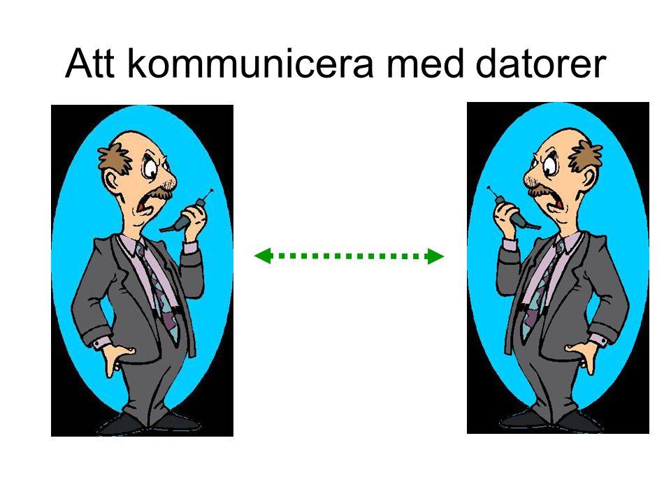 Att kommunicera med datorer