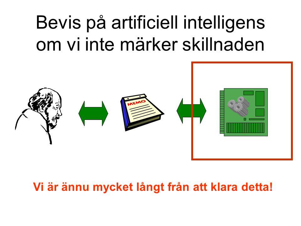 Bevis på artificiell intelligens om vi inte märker skillnaden