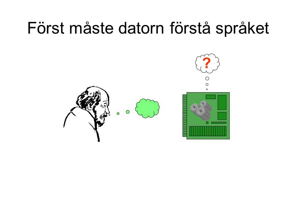 Först måste datorn förstå språket