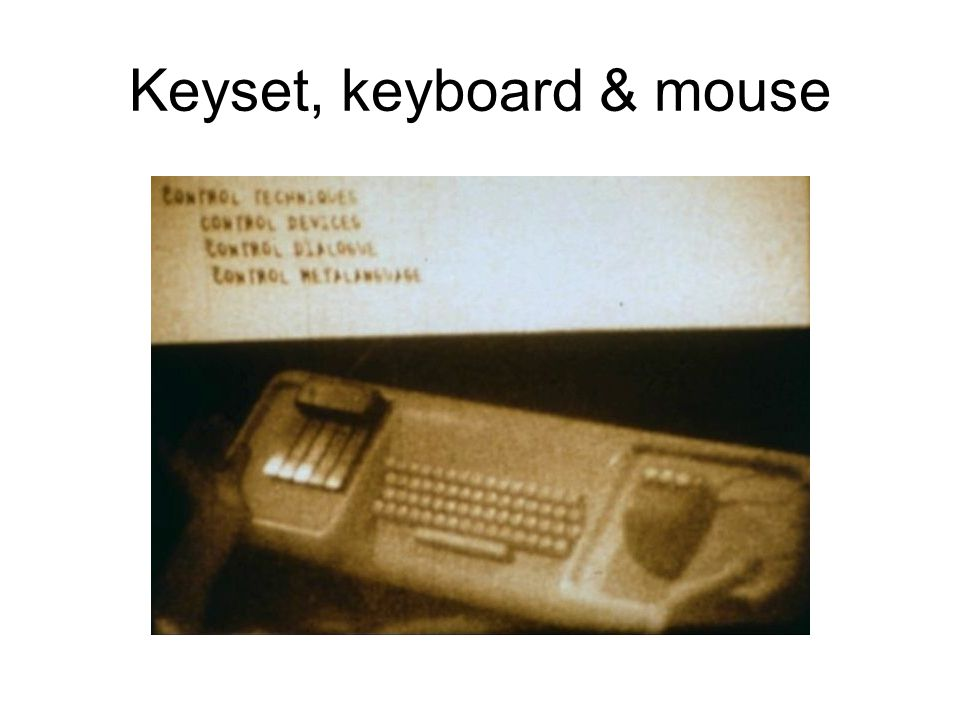 Keyset, keyboard & mouse