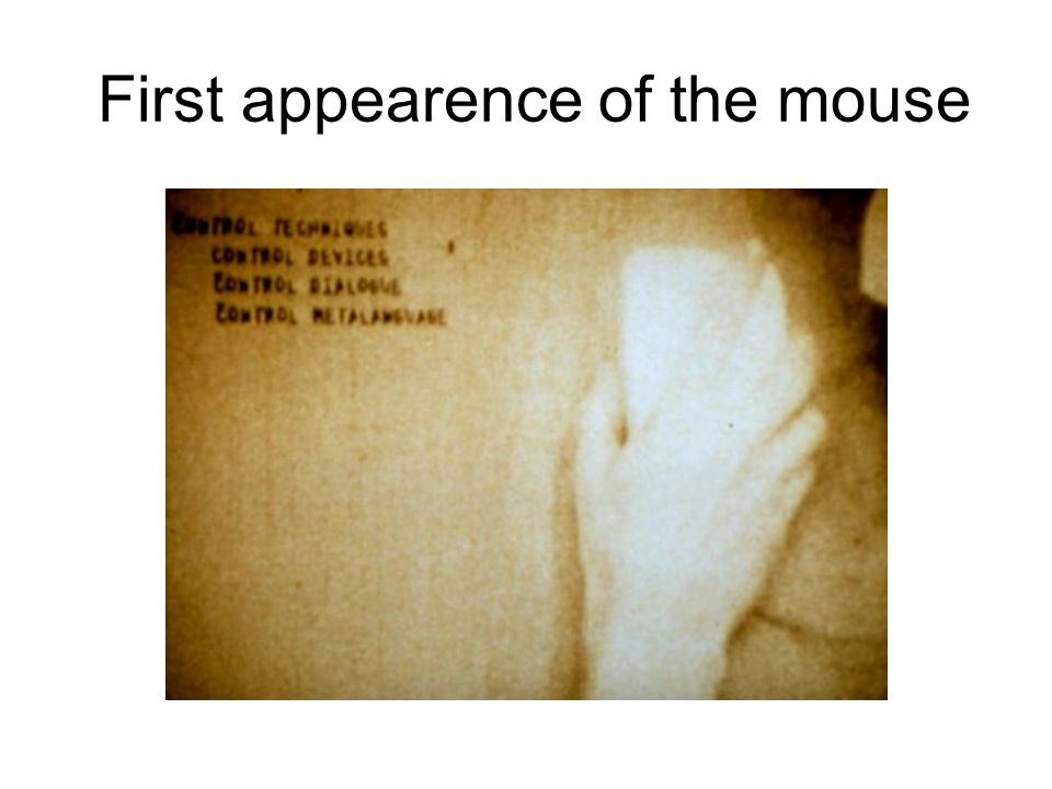First appearence of the mouse