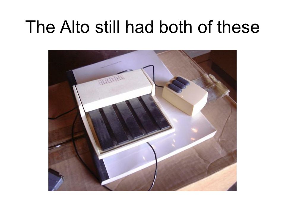 The Alto still had both of these