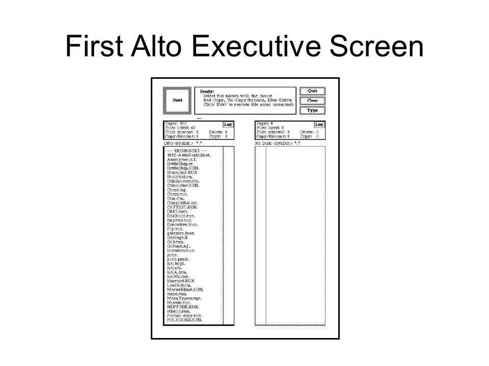 First Alto Executive Screen