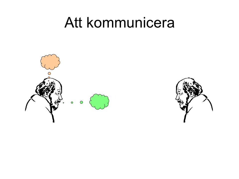 Att kommunicera