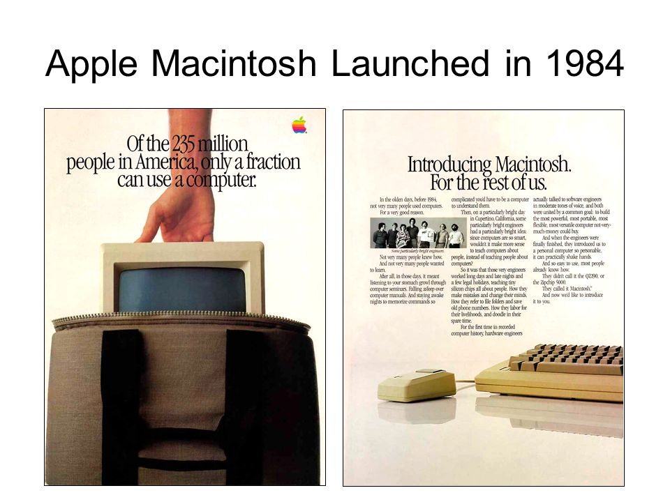 Apple Macintosh Launched in 1984