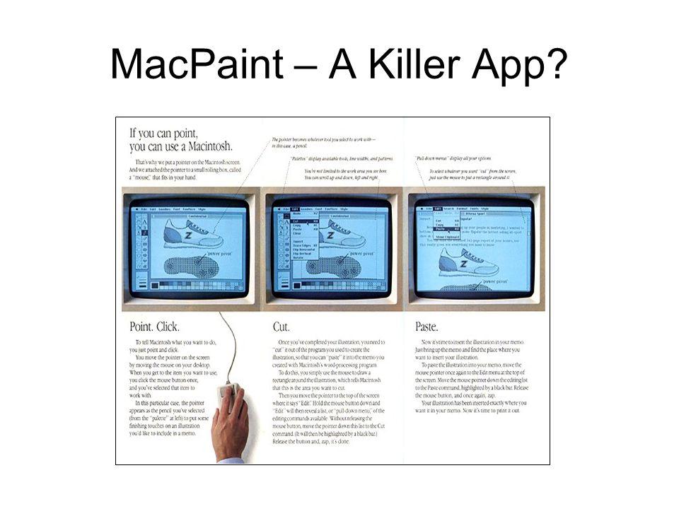 MacPaint – A Killer App