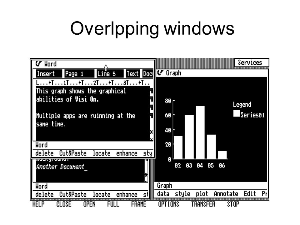 Overlpping windows