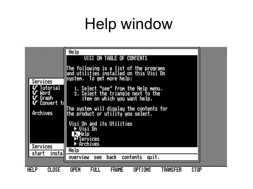 Help window