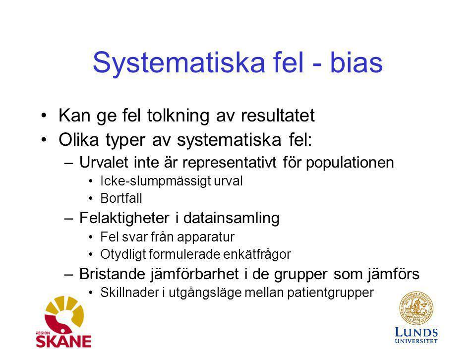 Systematiska fel - bias