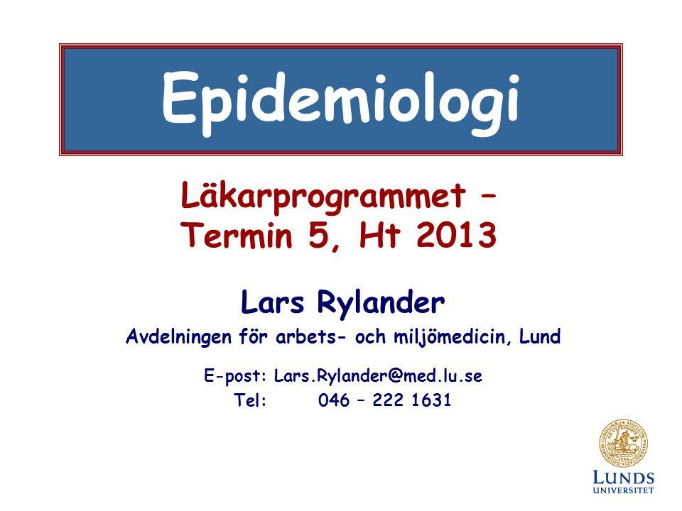Läkarprogrammet – Termin 5, Ht 2013