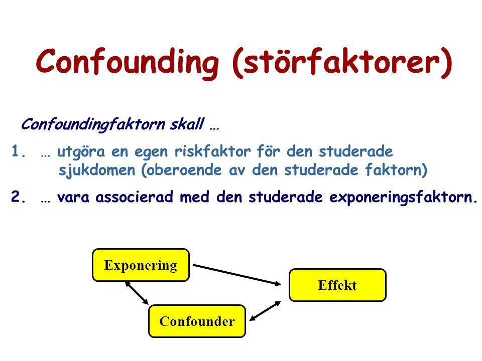 Confounding (störfaktorer)