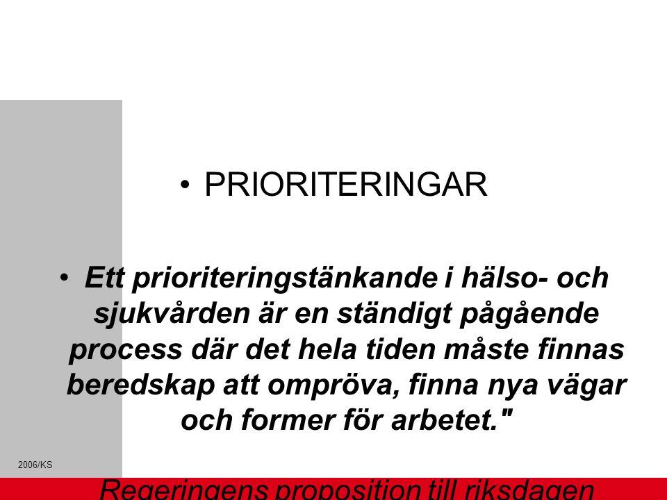 PRIORITERINGAR