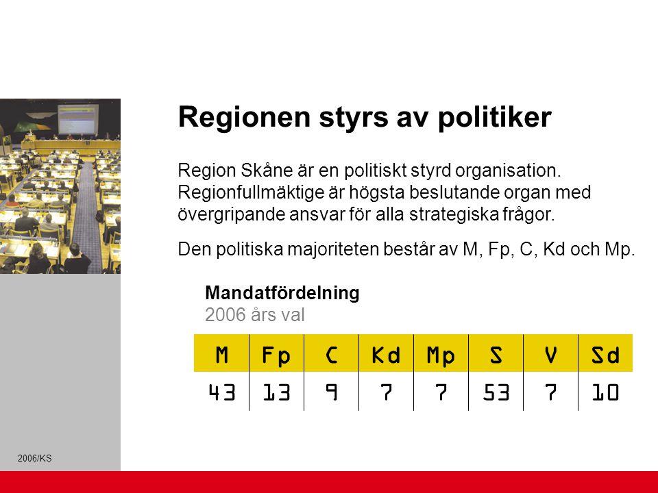Regionen styrs av politiker