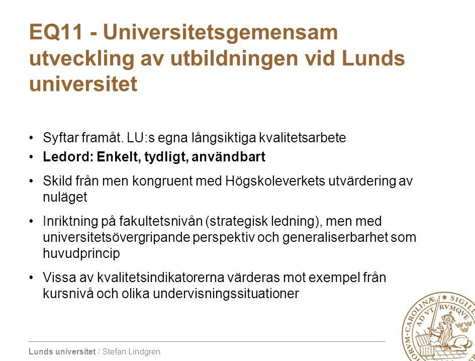 EQ11 - Universitetsgemensam utveckling av utbildningen vid Lunds universitet
