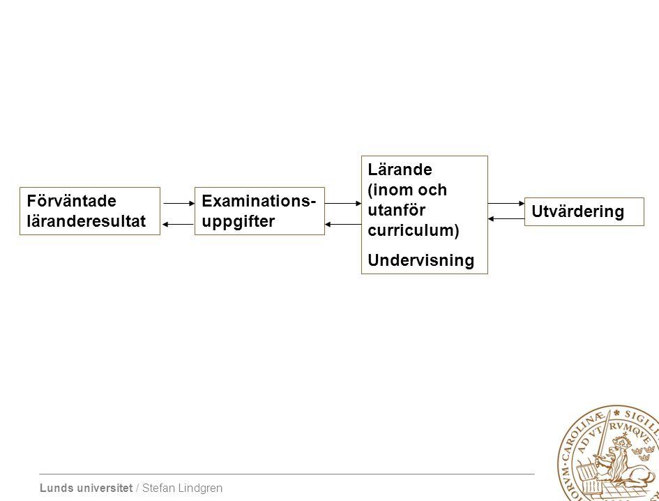 Lärande (inom och utanför curriculum)