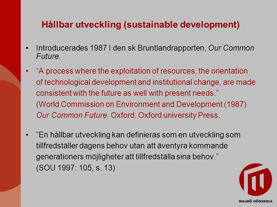 Hållbar utveckling (sustainable development)