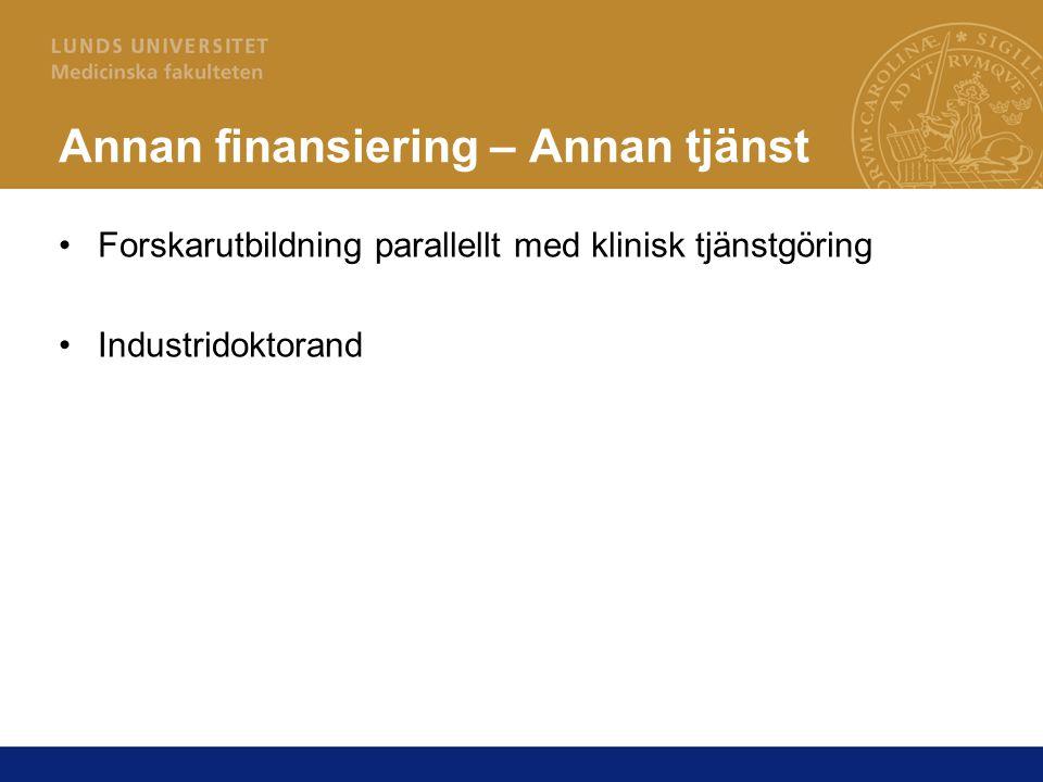 Annan finansiering – Annan tjänst