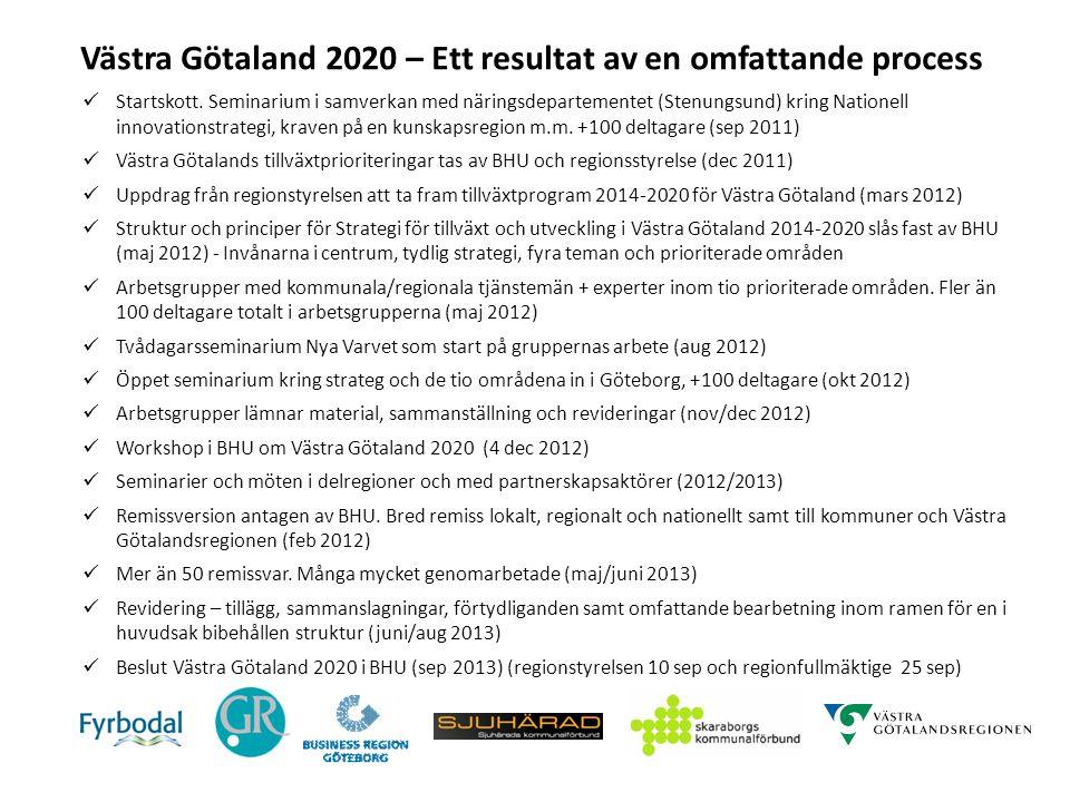 Västra Götaland 2020 – Ett resultat av en omfattande process