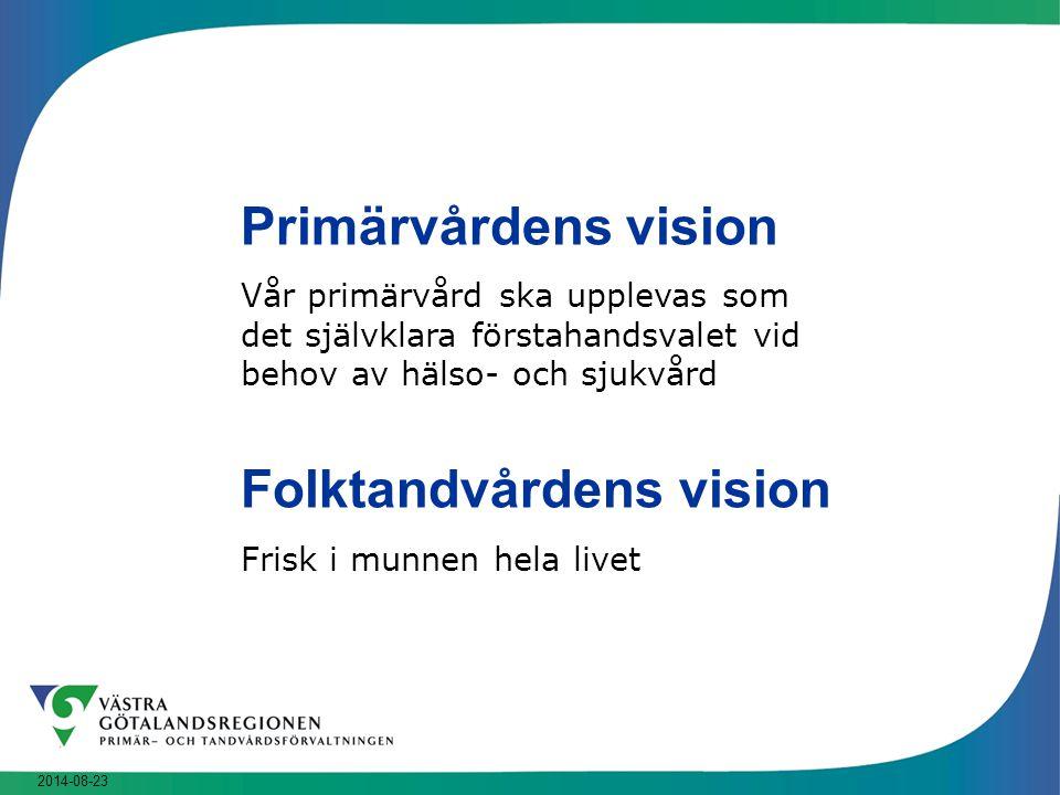 Primärvårdens vision Folktandvårdens vision