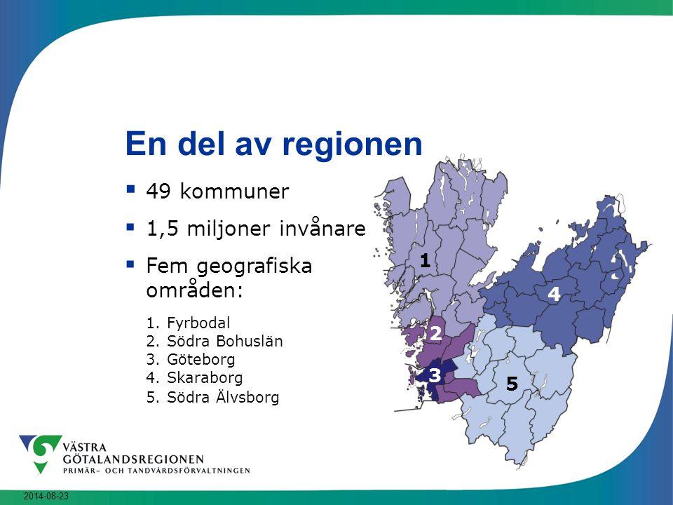 En del av regionen 49 kommuner 1,5 miljoner invånare