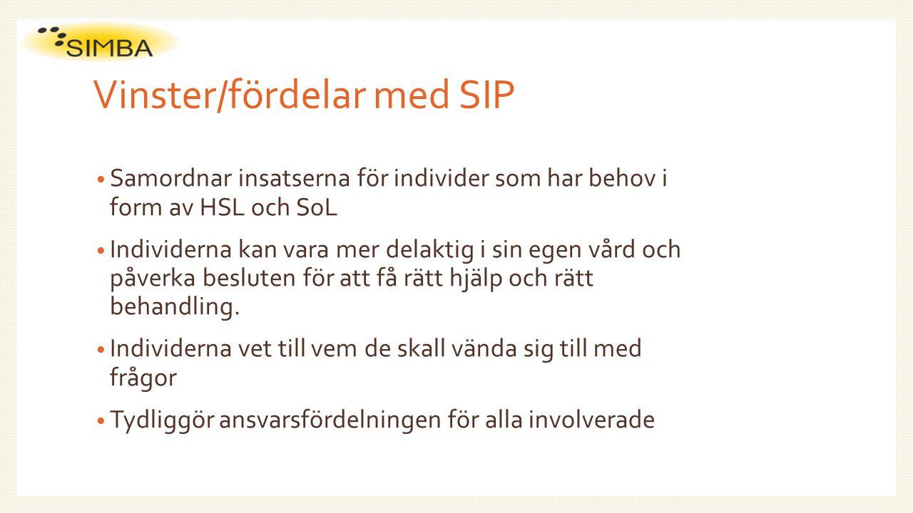 Vinster/fördelar med SIP